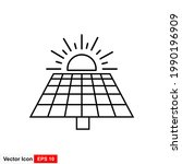 solar panel vector icon solar...   Shutterstock .eps vector #1990196909