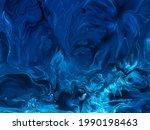 dark blue marble abstract hand...   Shutterstock . vector #1990198463
