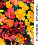red and yellow  flowers ...   Shutterstock . vector #1990198469