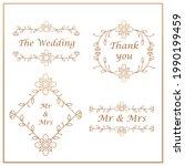 set of wedding labels...   Shutterstock .eps vector #1990199459