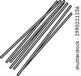 spaghetti pasta. vector outline ...   Shutterstock .eps vector #1990211156