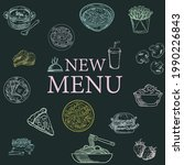 an vector of menu with...   Shutterstock .eps vector #1990226843