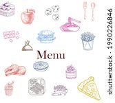 an vector of menu with...   Shutterstock .eps vector #1990226846