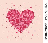 an vector of heart shape with...   Shutterstock .eps vector #1990228466