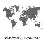 world map | Shutterstock .eps vector #199022930