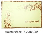 grunge frame with swirls | Shutterstock .eps vector #19902352