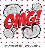omg  wording in comic speech... | Shutterstock .eps vector #199025849