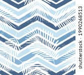 tropical pattern  palm leaves...   Shutterstock .eps vector #1990268513