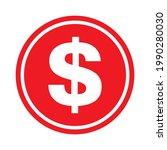 dollar money symbol  business... | Shutterstock .eps vector #1990280030