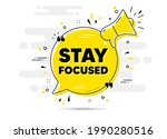 stay focused motivation quote....   Shutterstock .eps vector #1990280516