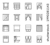monochrome simple curtains and...   Shutterstock .eps vector #1990281143