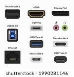 collection of connector and... | Shutterstock .eps vector #1990281146