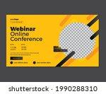 conference web banner or social ... | Shutterstock .eps vector #1990288310