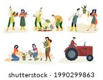 organic farming  agriculture...   Shutterstock .eps vector #1990299863