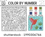 vector tropical color by number ... | Shutterstock .eps vector #1990306766