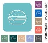 single cheeseburger white flat... | Shutterstock .eps vector #1990312430