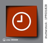 pictograph of  clock | Shutterstock .eps vector #199031828