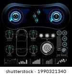 futuristic user interface. hud... | Shutterstock . vector #1990321340
