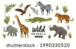 a collection of wild natural... | Shutterstock .eps vector #1990330520