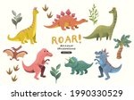 a collection of cute and... | Shutterstock .eps vector #1990330529