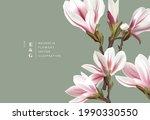 natural magnolia realistic... | Shutterstock .eps vector #1990330550