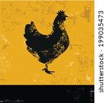 Chicken Symbol Grunge Vector