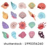 tropical underwater seashell ... | Shutterstock .eps vector #1990356260