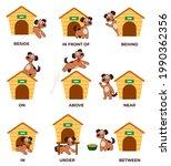 english prepositions learning...   Shutterstock .eps vector #1990362356
