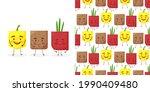 seamless pattern paprika potato ...   Shutterstock .eps vector #1990409480