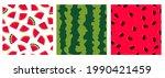 watermelon   vector set of...   Shutterstock .eps vector #1990421459