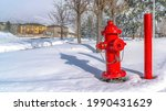 Pano Vibrant Red Fire Hydrant...