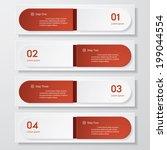 design clean number banners...   Shutterstock .eps vector #199044554