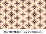 ikat ethnic abstract floral art....   Shutterstock .eps vector #1990450130