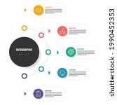 business infographic vector...   Shutterstock .eps vector #1990452353