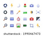 camera interface gradient icon...