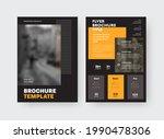 vector brochure template with... | Shutterstock .eps vector #1990478306