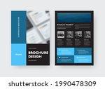 vector brochure template with... | Shutterstock .eps vector #1990478309