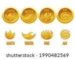 4 Elements Nature  Golden Art...