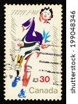 canada   circa 1982  postage... | Shutterstock . vector #199048346