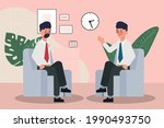 business people seminar with...   Shutterstock .eps vector #1990493750