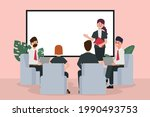 business people seminar with...   Shutterstock .eps vector #1990493753