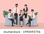 business people seminar with...   Shutterstock .eps vector #1990493756