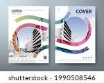 annual report brochure flyer... | Shutterstock .eps vector #1990508546