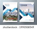 annual report brochure flyer... | Shutterstock .eps vector #1990508549