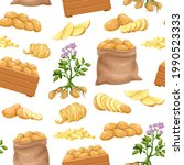 potato products seamless... | Shutterstock .eps vector #1990523333
