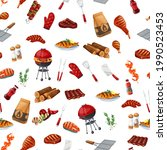 bbq party seamless pattern ...   Shutterstock .eps vector #1990523453