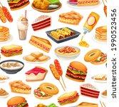 American Food Seamless Pattern  ...