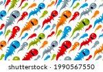 scary horror monsters seamless... | Shutterstock .eps vector #1990567550