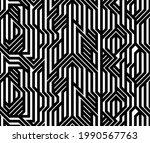 tech style seamless linear...   Shutterstock .eps vector #1990567763