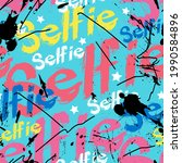 graffiti style seamless... | Shutterstock .eps vector #1990584896